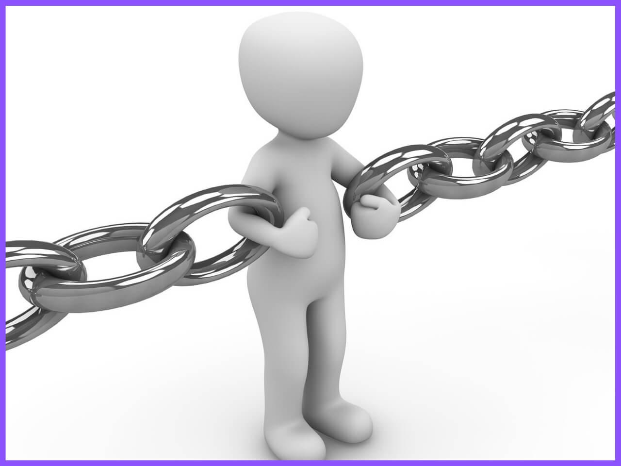 自分で鎖に繋がれる人