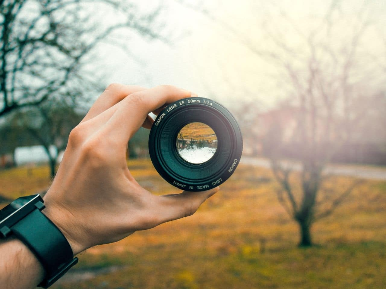 カメラレンズの焦点