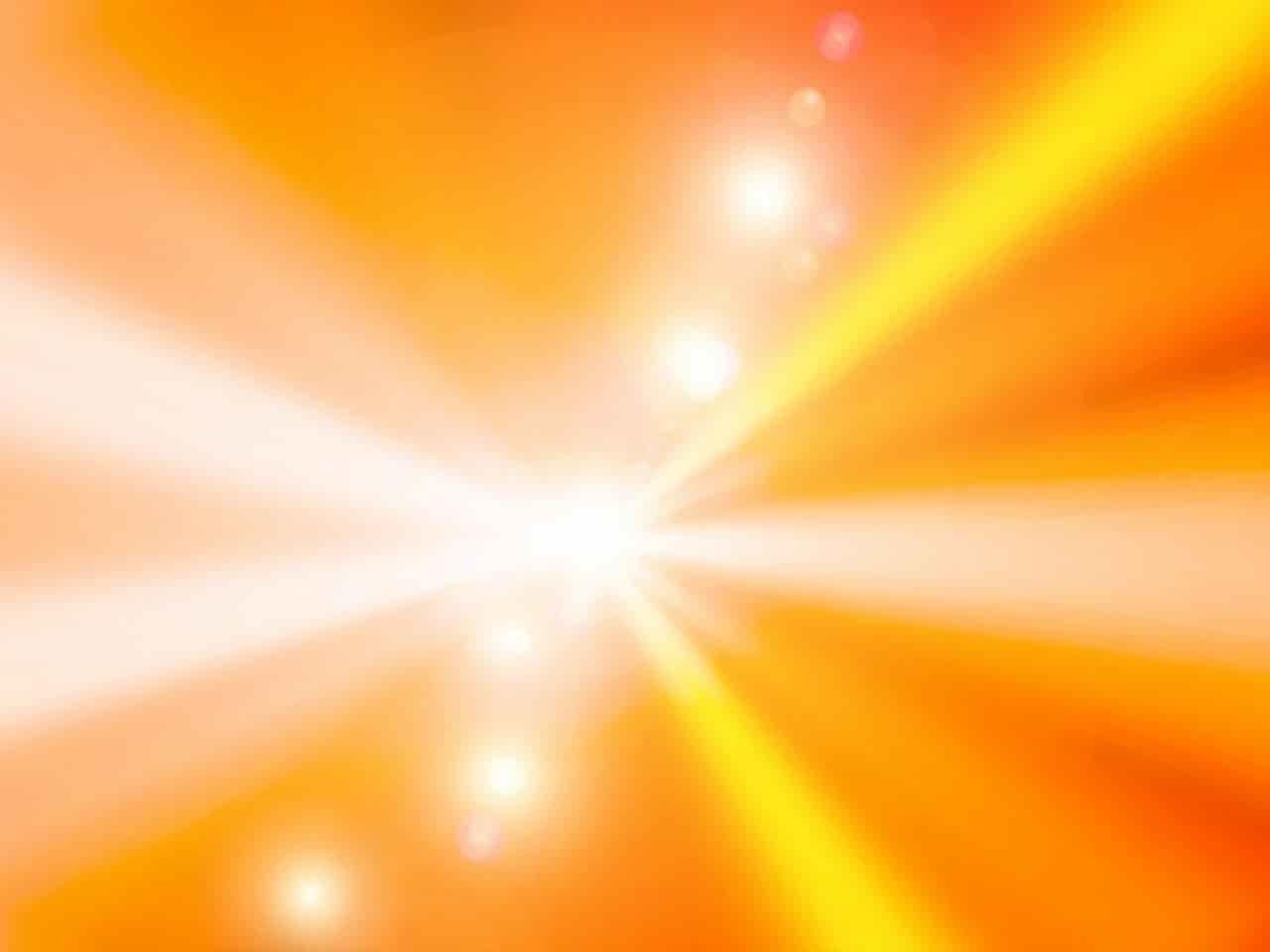 集中力が増した光り輝く状態のイラスト