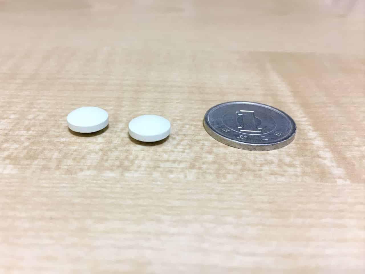 パンセダンの錠剤と一円玉