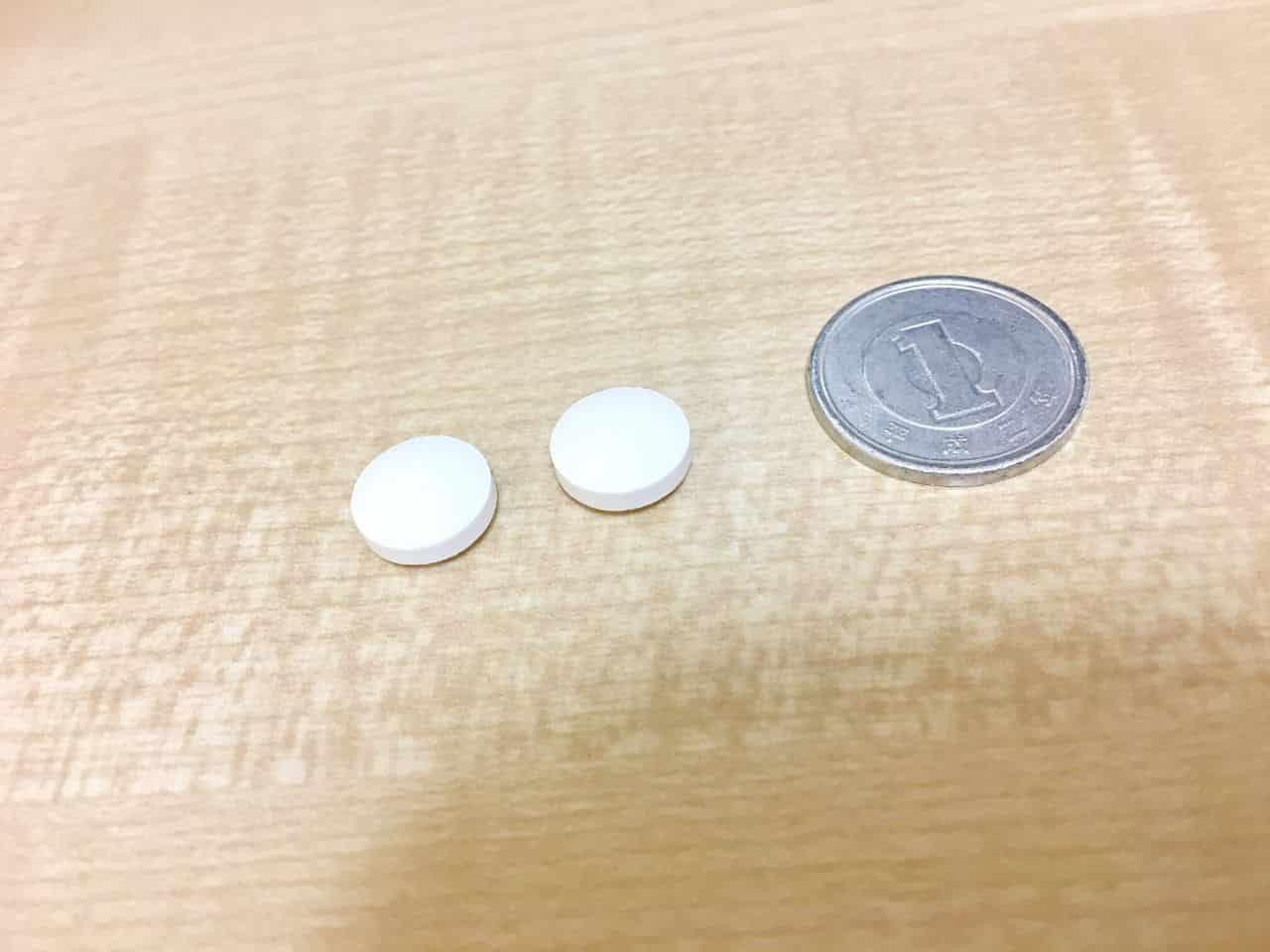 コリホグスの錠剤と一円玉