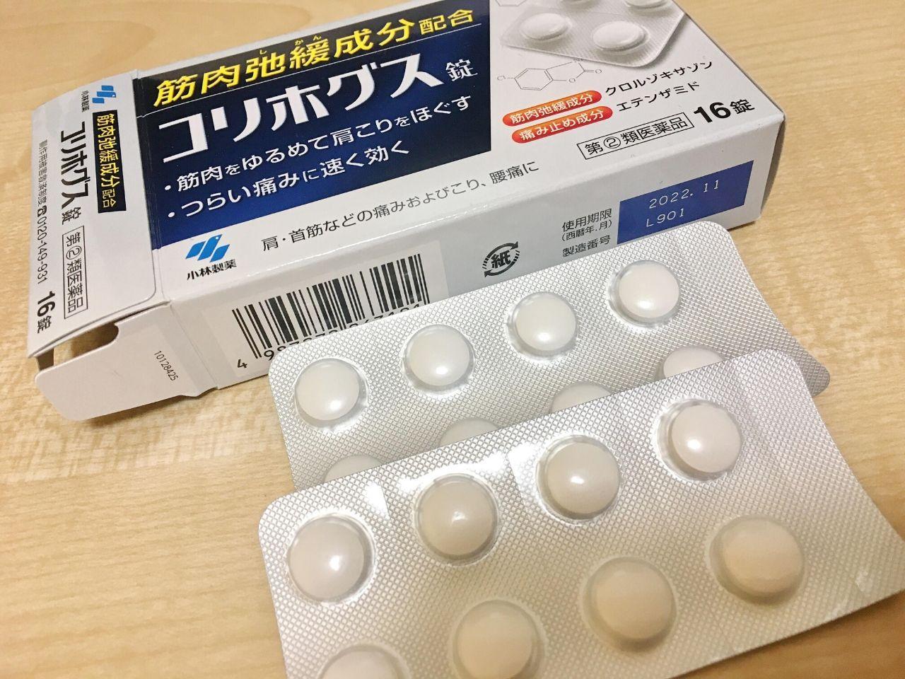 コリホグスの箱と錠剤