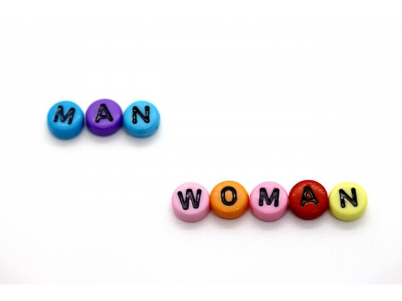 MANとWOMANと書かれた円
