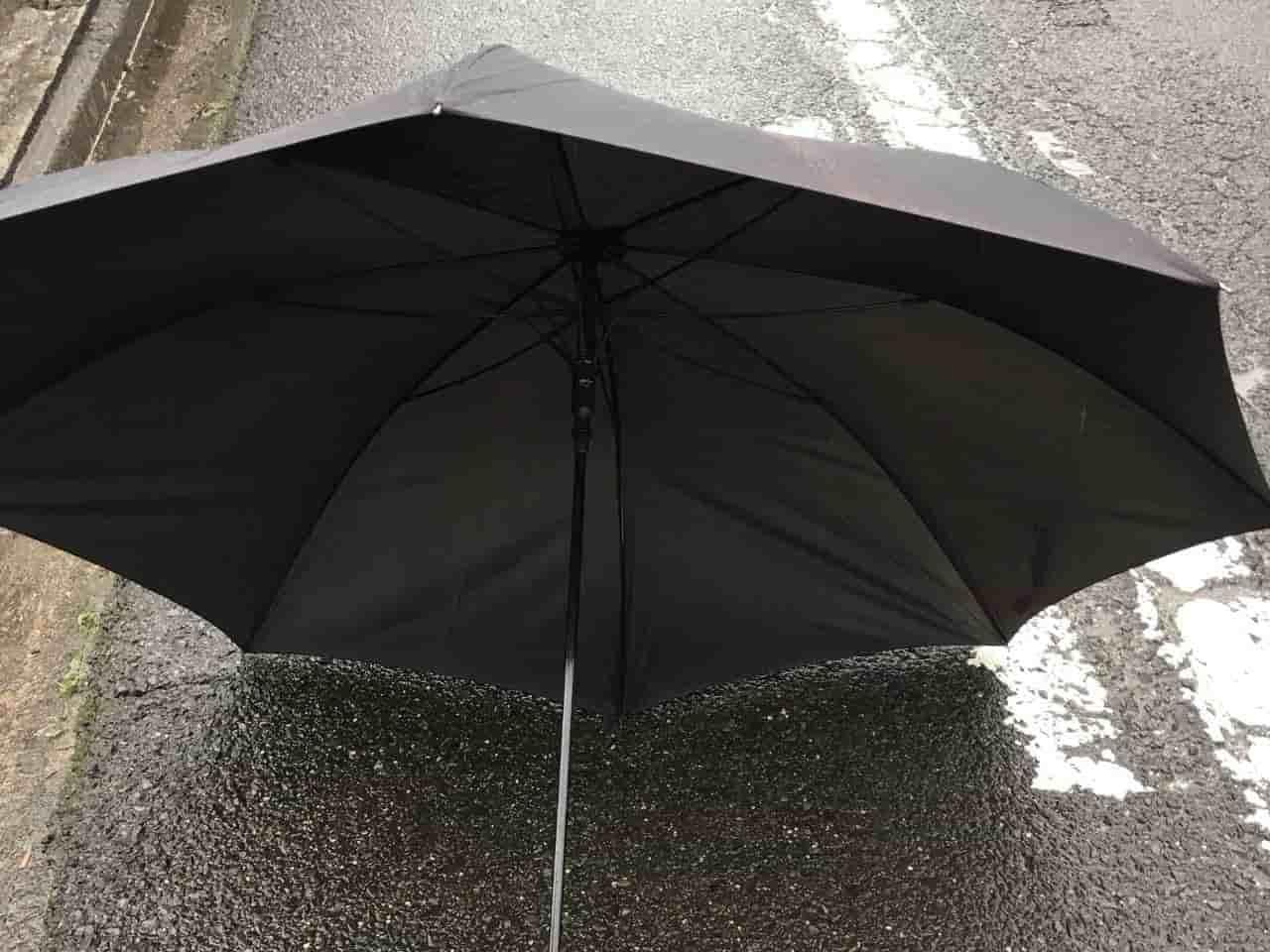 超大型の黒い傘