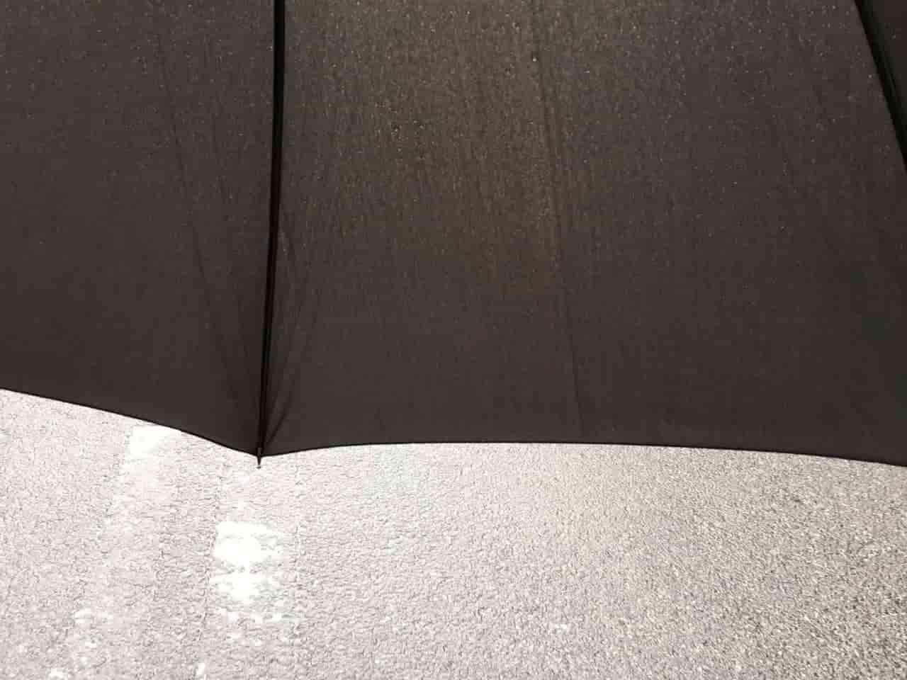 大きすぎて前が見えない傘