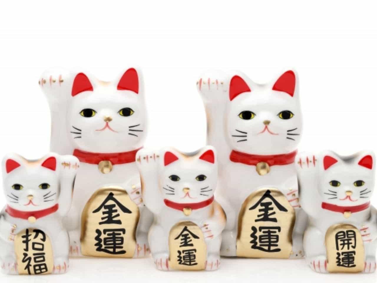 5体の招き猫