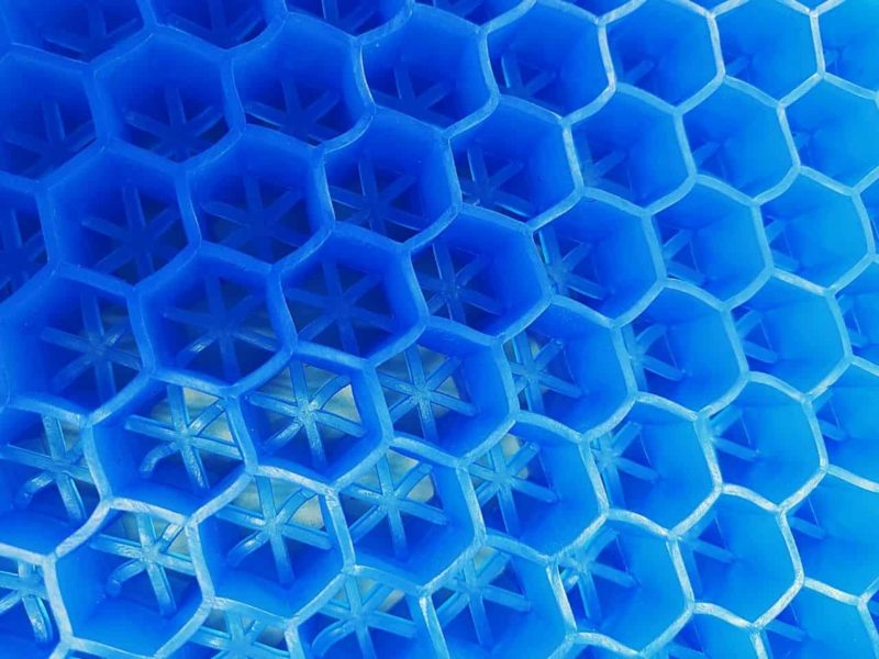 蜂の巣構造のジェルクッション