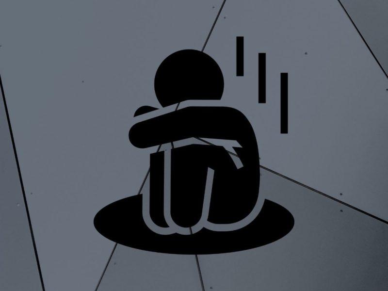 悲しそうに落ち込んでいる人のイラスト