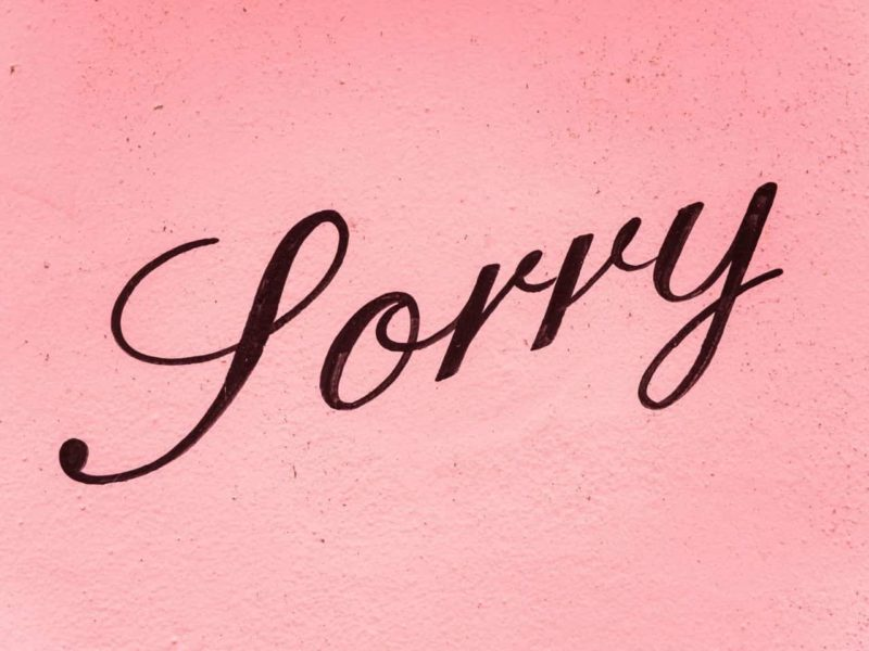 sorryの文字