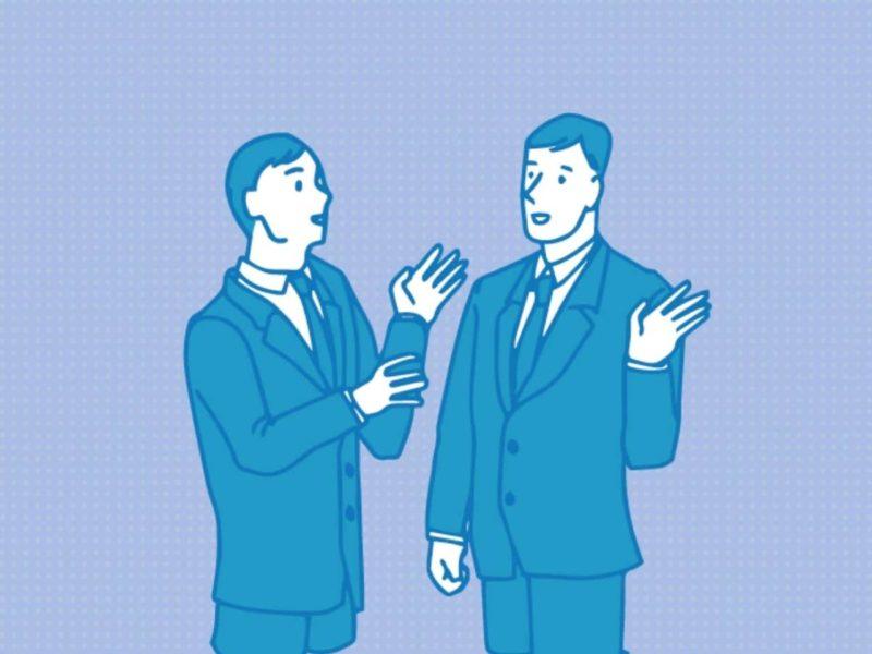 会話するビジネスマンのイラスト