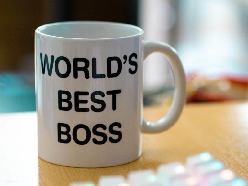 世界最高のボスと書かれたマグカップ